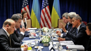 Intalnire intre liderii NATO si presedintele Ucrainei, inainte de inceperea summit-ului