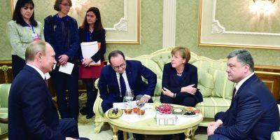 LIVETEXT Separatistii resping armistitiul. Merkel, Putin, Porosenko si Hollande anunta un