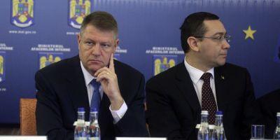 Iohannis si Ponta - stare de razboi
