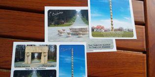 Cartile postale cu operele lui Constantin Brancusi, traduse gresit intr-o franceza stalcita
