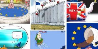 FOTO Brexitul a starnit imaginatia desenatorilor. Cum este vazuta, in desene, alegerea britanicilor de a iesi din UE