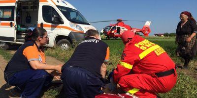 Accident cu 7 victime, printre care trei minori, pe DN17D . Soacra soferului care a provocat accidentul, in stare foarte grava