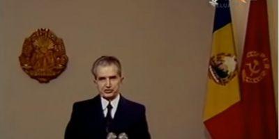 Ultimul discurs de Revelion al lui Nicolae Ceausescu. Imagini needitate cu dictatorul comunist