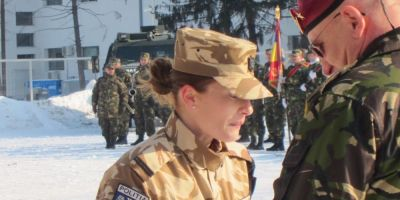 Femeia locotenent care a condus un detasament in Afganistan,