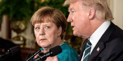 Primul contact delicat si divergente flagrante intre Trump si Merkel