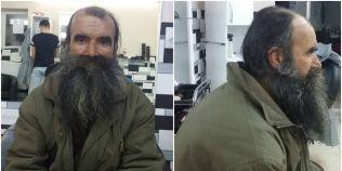 FOTO Transformarea unui barbat fara adapost din Timisoara. A fost convins sa se barbiereasca dupa cinci ani