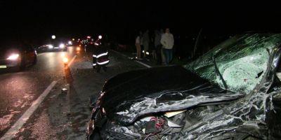 VIDEO Un microbuz cu moldoveni, implicat intr-un accident rutier in Romania. Mai multe persoane au fost ranite