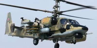 VIDEO Cum se fereste de rachete elicopterul de atac Ka-52, utilizat de armata rusa in Siria