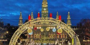 FOTO Targul de Craciun de la Viena, decupat parca din carti postale.